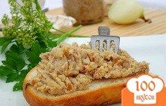 Фото рецепта: «Смалец с луком, яблоком и чесноком»