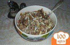 Фото рецепта: «Гречневая каша с яйцами и куриным мясом»