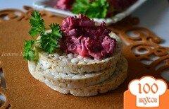 Фото рецепта: «Свекольный салат с моцареллой»