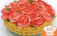 Фото рецепта: «Торт «Миллион алых роз»»