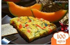 Фото рецепта: «Фриттата с цуккини и красным сладким перцем»