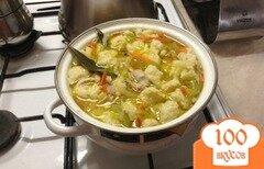 Фото рецепта: «куриный суп с картофельными галушками»