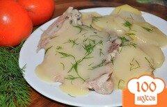 Фото рецепта: «Картофель с мясом под белым соусом»