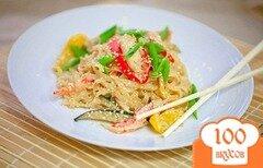 Фото рецепта: «Азиатская (тайская) лапша с курицей терияки»