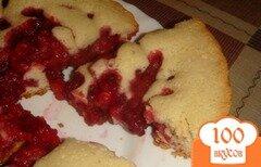 Фото рецепта: «Пирог с малиной в мультиварке»
