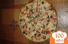 Фото рецепта: «Пицца за 20 минут в сковороде»