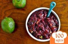 Фото рецепта: «Черничная сальса с авокадо»