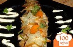 Фото рецепта: «Рыба , запеченная под соевым соусом с карамболой»