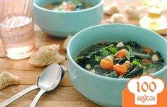 Фото рецепта: «Томатный суп с белой фасолью»