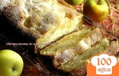 Фото рецепта: «Кекс с яблоками на сгущенке»