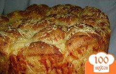 """Фото рецепта: «""""Обезьяний"""" хлеб с сыром»"""