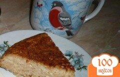 Фото рецепта: «Творожно-яблочная запеканка с овсяными хлопьями»