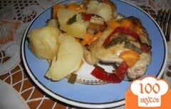 Фото рецепта: «Курица с овощами в рукаве для запекания»