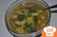 Фото рецепта: «Грибной суп с брокколи»