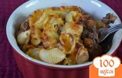 Фото рецепта: «Паста с говяжим фаршем по-гречески»