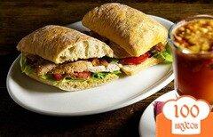 Фото рецепта: «Тёплый сэндвич с куриной грудкой»