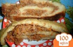 Фото рецепта: «Картофельный рулет с тушеной капустой»