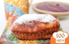 Фото рецепта: «Творожные кексы с изюмом и яблоком»