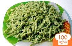 Фото рецепта: «Домашняя лапша со шпинатом»