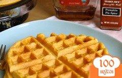 Фото рецепта: «Тыквенные вафли»