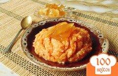 Фото рецепта: «Тыквенная каша с пшеном и яблочным вареньем»