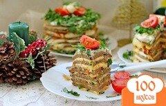 Фото рецепта: «Печёночные мини-тортики»