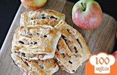 Фото рецепта: «Яблочный штрудель из слоеного теста»