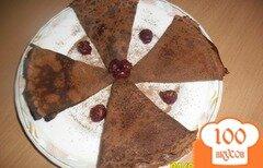 Фото рецепта: «Ванильно-шоколадные тонкие блинчики»