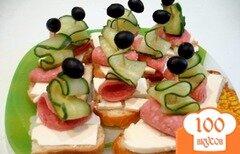 Фото рецепта: «Бутерброды парусники»