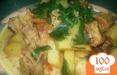 Фото рецепта: «Свинина с овощами запеченная в рукаве»