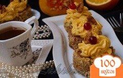 Фото рецепта: «Диетические пирожные с тыквенным кремом»