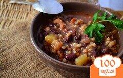 Фото рецепта: «Густой овощной суп на курином бульоне»
