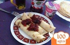 Фото рецепта: «Налистники с творогом и джемом на завтрак»