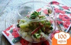 Фото рецепта: «Салат из дыни и сырокоченого мяса»