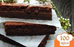 """Фото рецепта: «""""Мокрые"""" шоколадные пирожные»"""