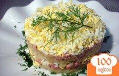Фото рецепта: «Салат из печени трески»