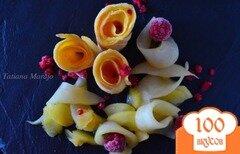 Фото рецепта: «Блинчики с лимонным курдом и фруктами»