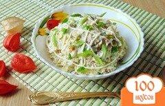 Фото рецепта: «Салат из отварной индейки с сыром»