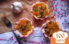 Фото рецепта: «Порционная картофельная запеканка с грибами в духовке»