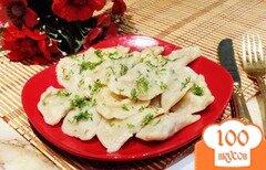 Фото рецепта: «Вареники с куриной печенью и картофелем»