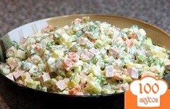 Фото рецепта: «Салат Оливье с зеленью»