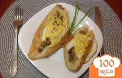 Фото рецепта: «Жареные яйца в хлебе или гренки с глазуньей»