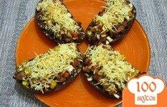 Фото рецепта: «Горячие фитнес-бутерброды с фаршем и сыром»