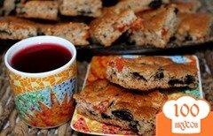 Фото рецепта: «Постная медовая коврижка с орехами и сухофруктами»
