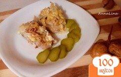 Фото рецепта: «Минтай запеченный с орехами под сливочным соусом»
