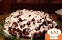 "Фото рецепта: «Тортик ""Шоколад на кипятке""»"
