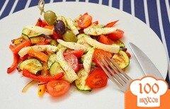 Фото рецепта: «Салат из овощей-гриль с моцареллой»