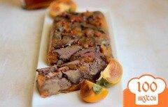 Фото рецепта: «Террин из куриной печени с хурмой»