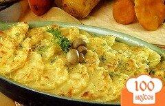 Фото рецепта: «Запеканка с картофелем и грибами»