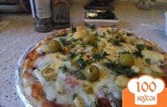 """Фото рецепта: «Пицца """"Три сыра""""»"""